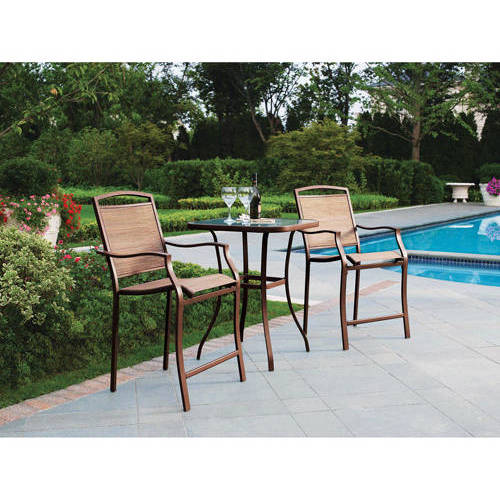 Superb Mainstays Sand Dune 3 Piece High Outdoor Bistro Set, Seats 2