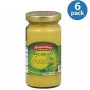 Hengstenberg Medium Hot Mustard, 7.1 oz, (Pack of 6)