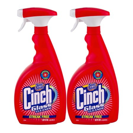 Cinch Natural - (2 Pack) Spic and Span Cinch Glass Cleaner, 32.0 FL OZ