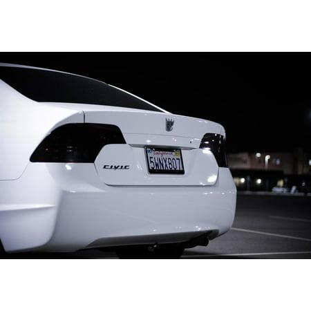 New 2006 2007 2008 Honda Civic Sedan Smoked Tail Lights Covers Lamps Tint Overlays (Smoke Tail Light Covers)