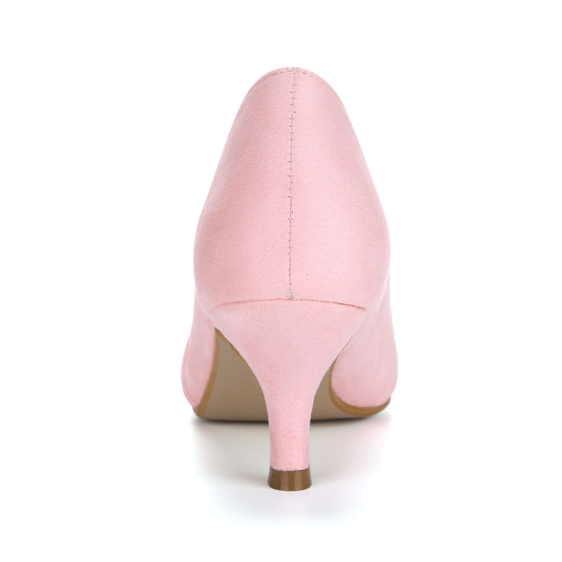 HF-27 Women Pointed Toe Mid Stiletto Heel Pumps Pink/US 9.5 - image 6 of 7