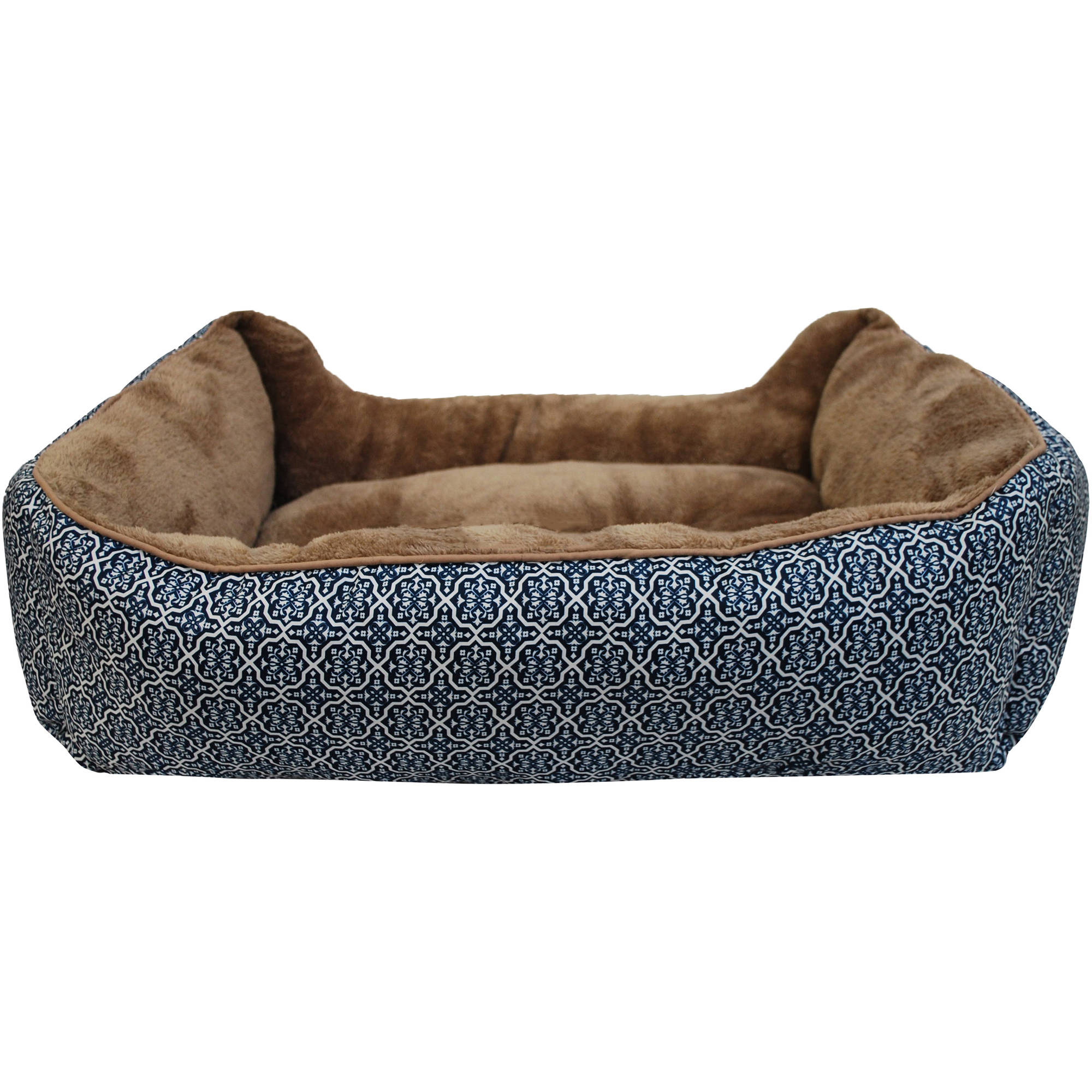 chew proof charcoal dp soft amazon dog bed black pet x com velour brindle supplies medium