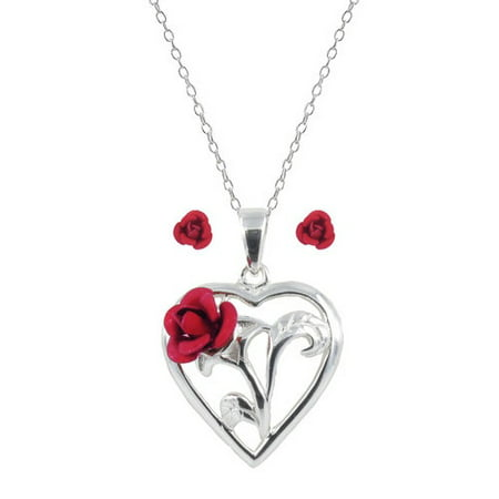 pendant ulzzang sterling female small chain love eecffjjijjci girl heart fresh clavicle item necklace silver red