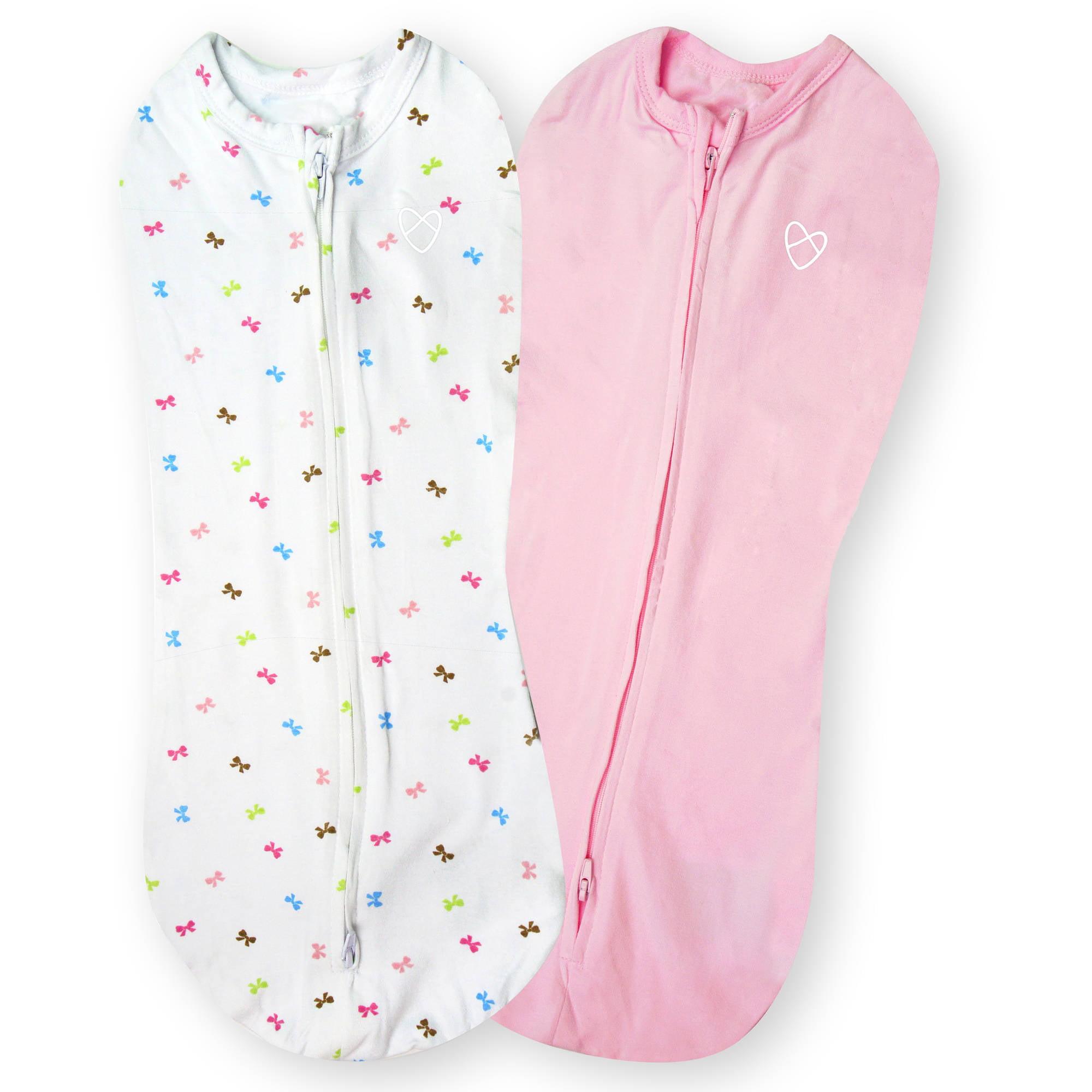 Summer Infant Baby Wrap Swaddle Sleeping Bag Large Pink//White Stripe 1Pk