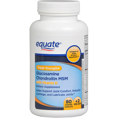 Equate Glucosamine Chondroitin MSM Dietary Supplement, 80ct
