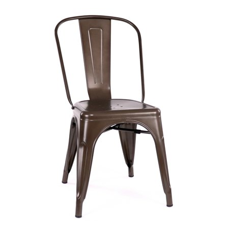 Design Lab MN LS-9000-2-RMT Dreux Rustic Dining Chair Set of 2 ()