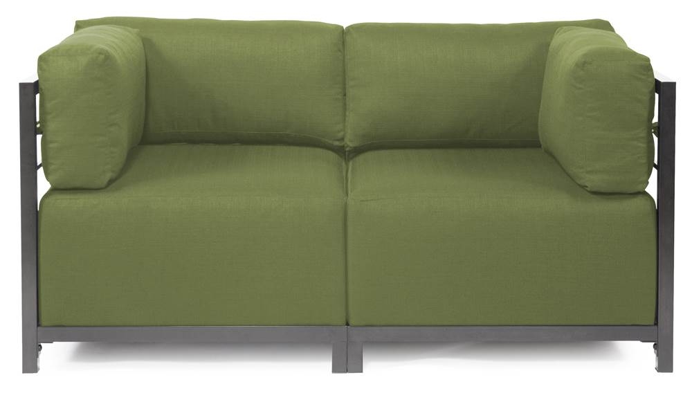 2-Pc Sectional in Seascape Moss by Howard Elliott Collection
