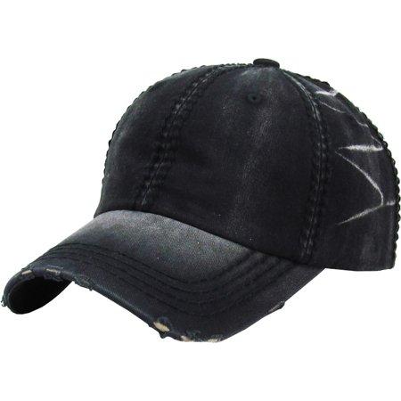 Premium Vintage Distressed Washed Cotton Dad Hat Adjustable Baseball Cap