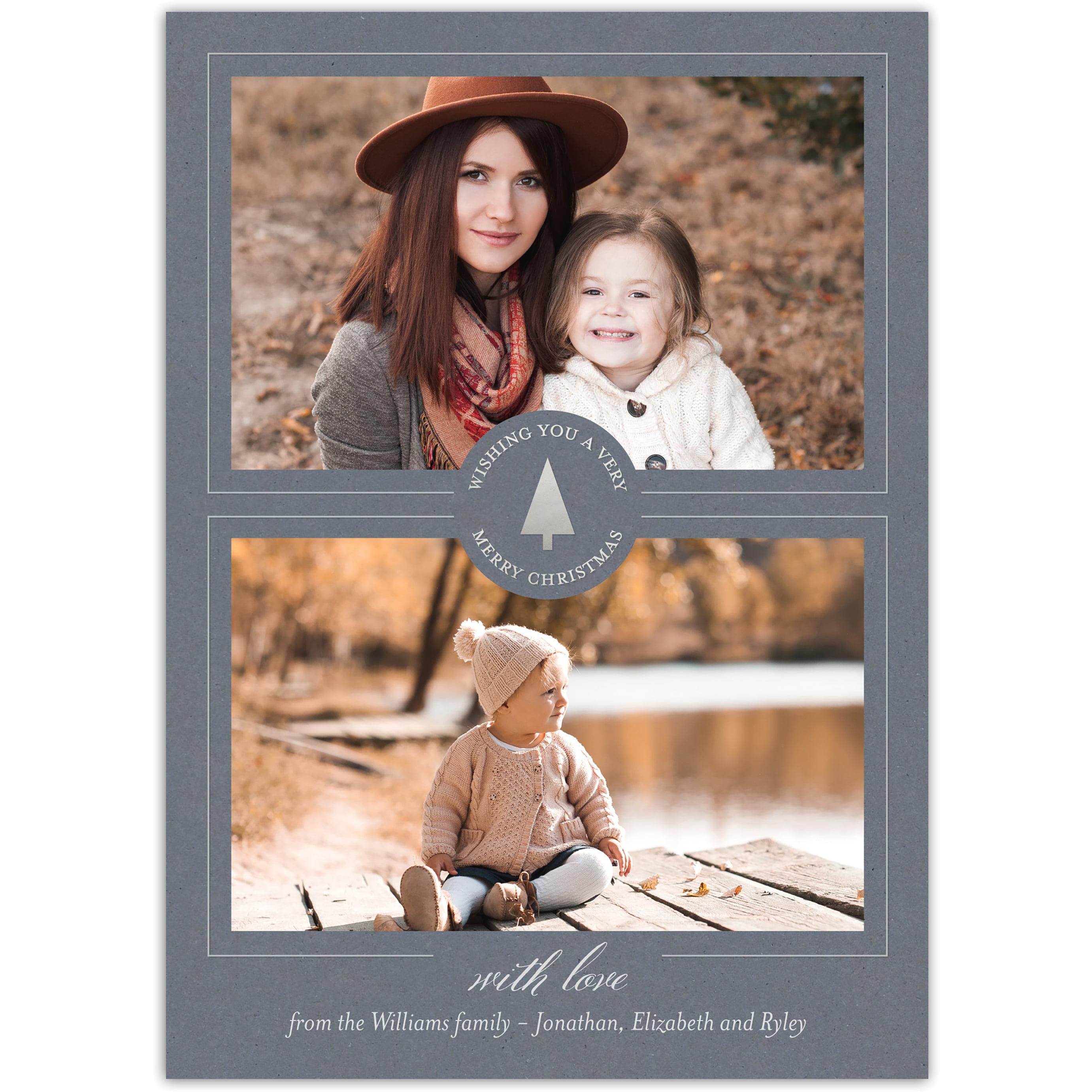 Kraft Foil - 5x7 Personalized Christmas Card