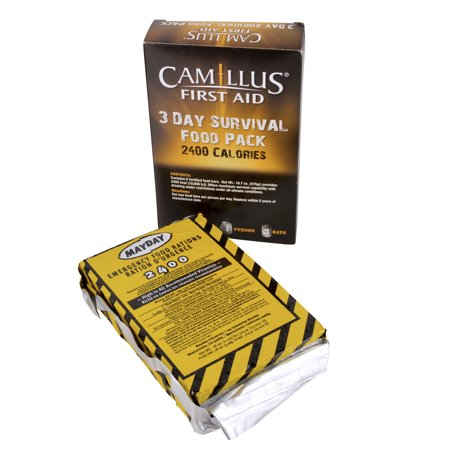 Camillus First Aid 3 Day Survival Food Pack, 2400