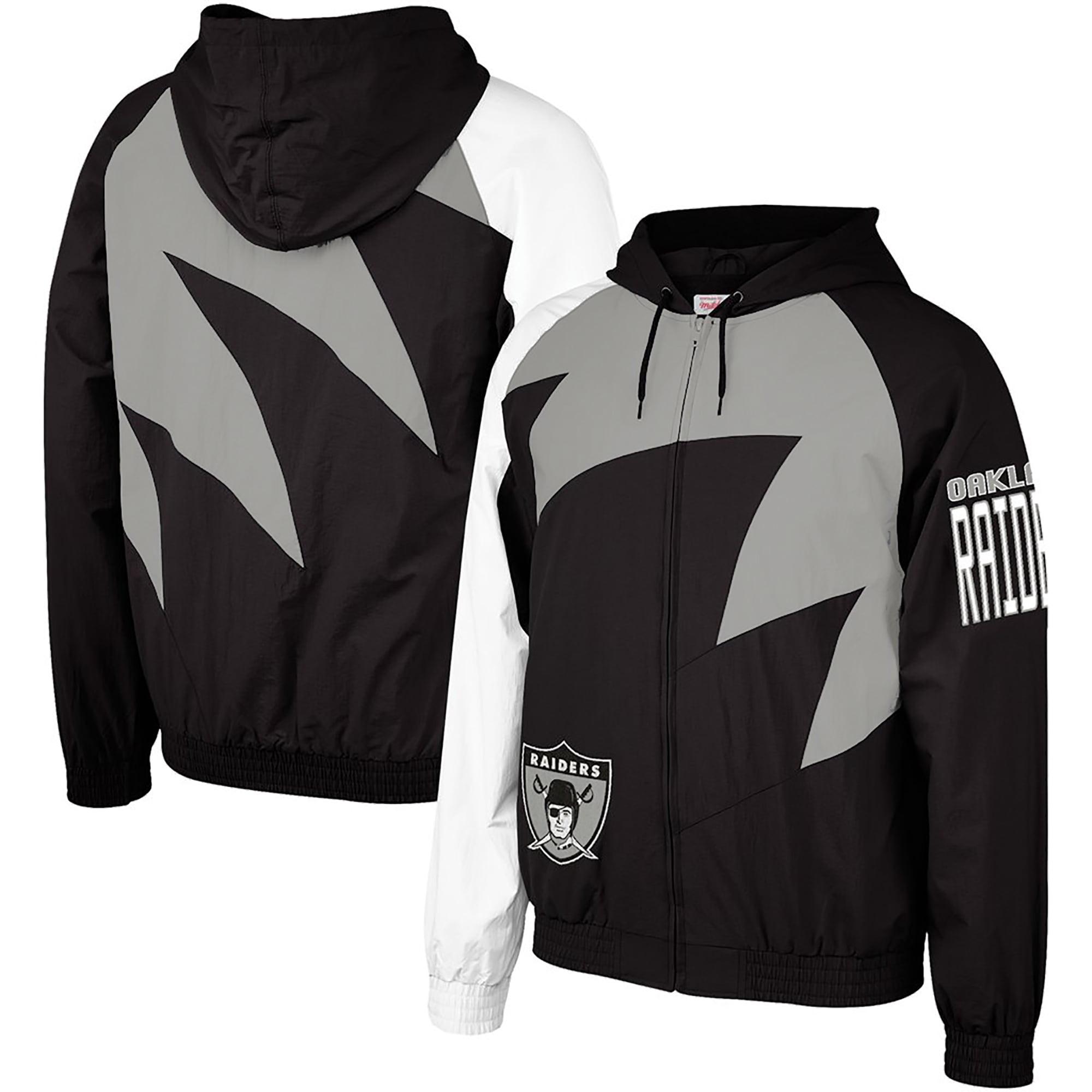 Oakland Raiders Mitchell & Ness Shark Tooth Full-Zip Jacket - Black