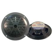 Pyle PLMR51B Dual 5.25'' Waterproof Marine Speakers, 2-Way Full Range Stereo Sound, 100 Watt, Black (Pair)