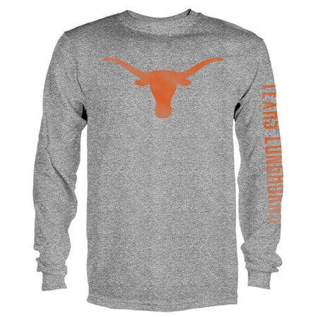 Texas Longhorns Tri Color (Men's Gray Texas Longhorns Notion Long Sleeve T-Shirt)