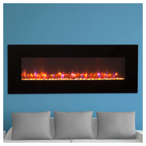 The Outdoor GreatRoom Company Linear Wall Mounted Electric Fireplace