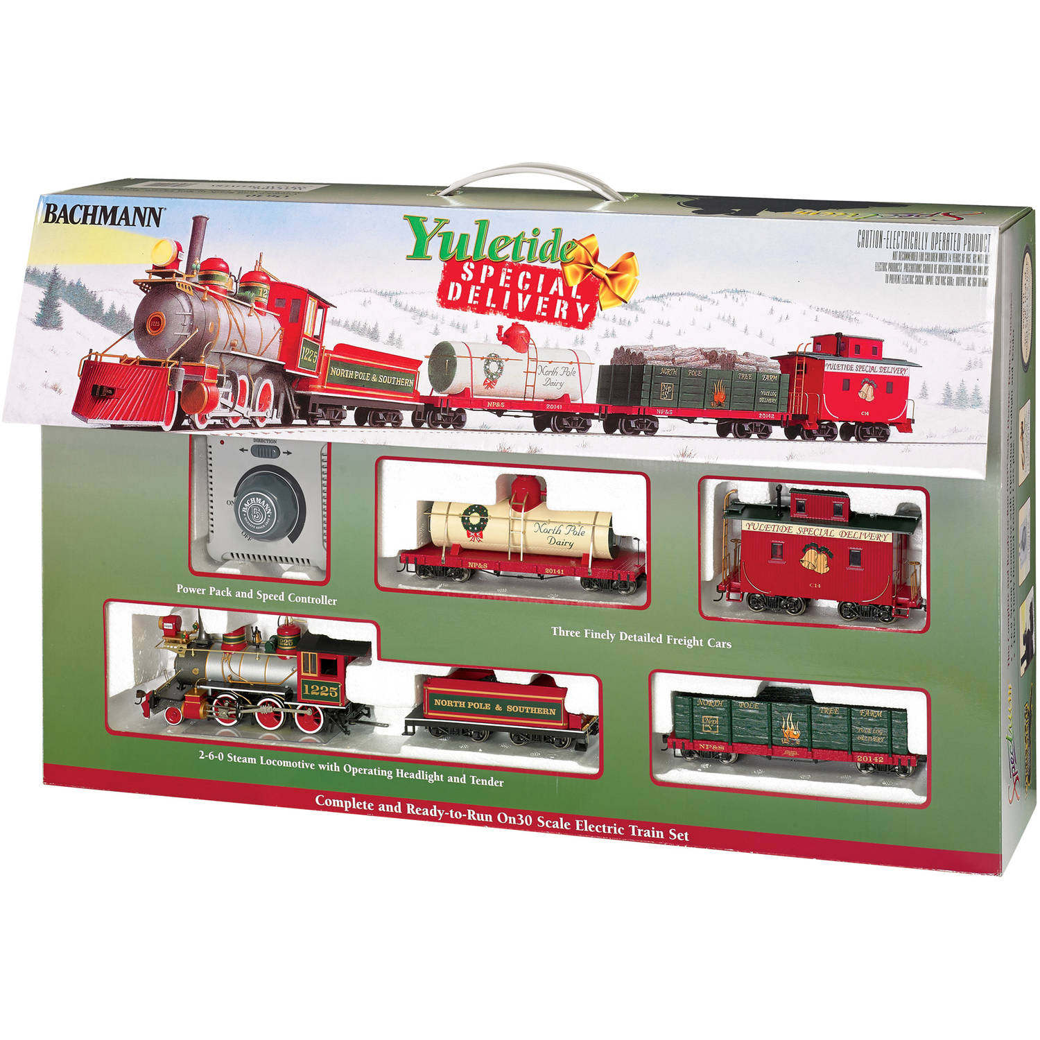 Bachmann Trains Yuletide Special Delivery On30 Scale Ready-To-Run Electric Train Set