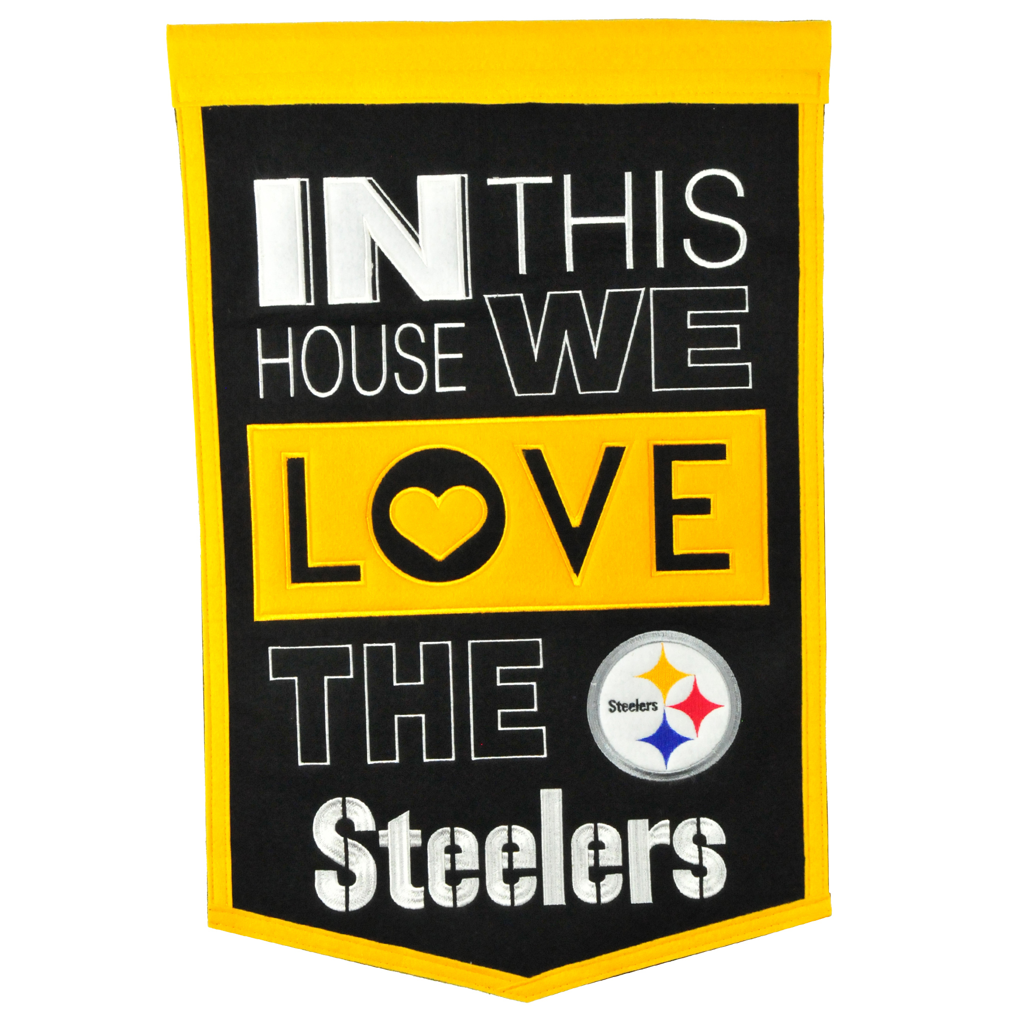 Pittsburgh Steelers 15'' x 24'' Home Banner - No Size