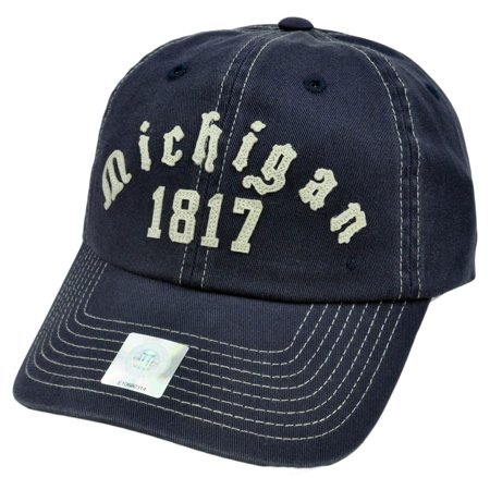 - NCAA Top of World Michigan Wolverines Garment Wash Hat Cap Adjustable Applique