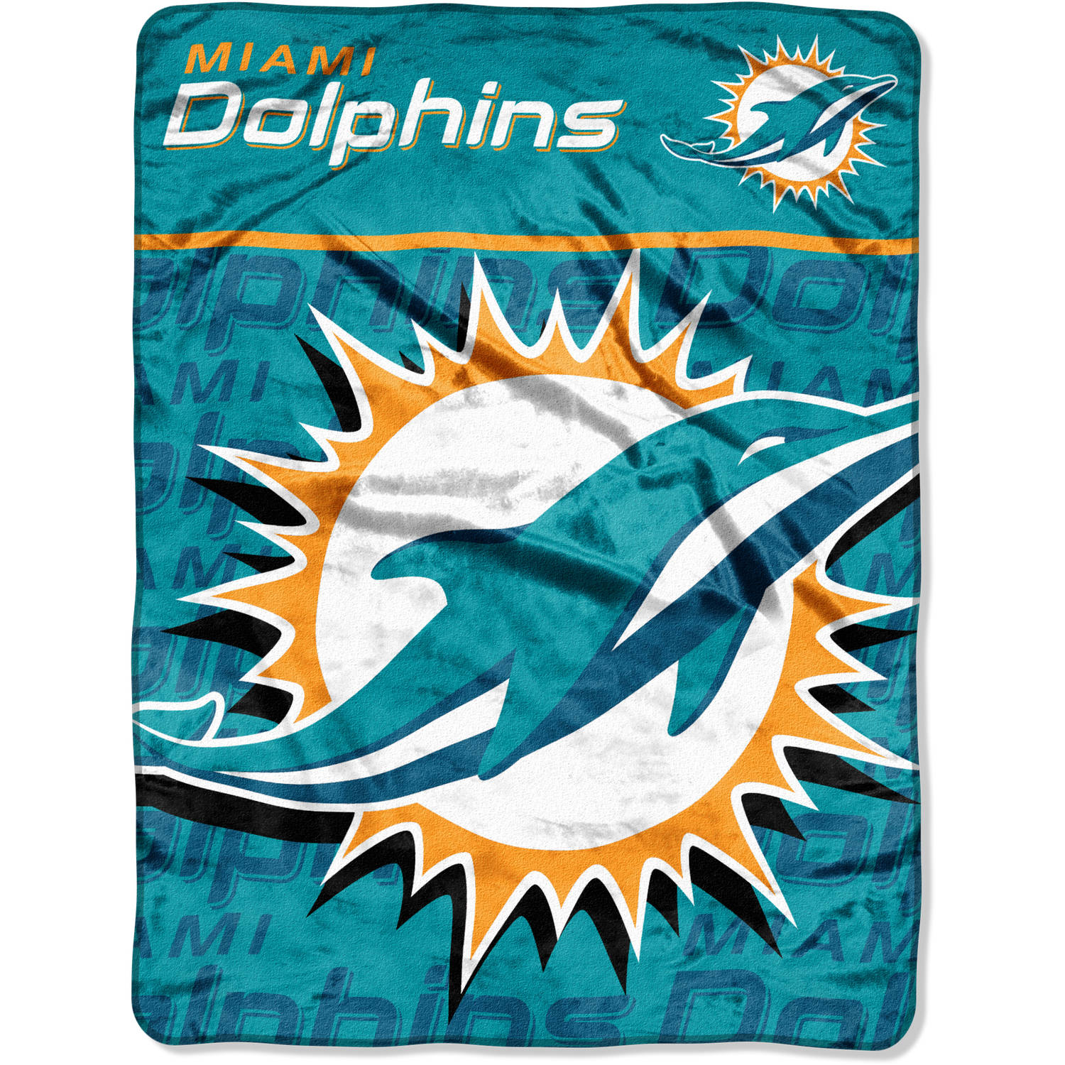 "NFL Miami Dolphins 46"" x 60"" Micro Raschel Throw"
