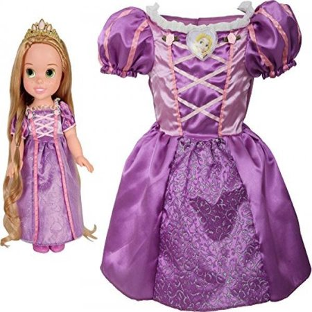 Disney Princess Rapunzel Toddler Doll & Girl Dress Gift Set for $<!---->
