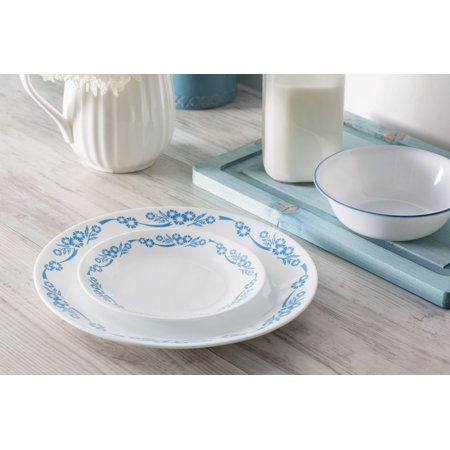 Corelle Livingware Cornflower 16-Piece Dinnerware Set Corelle Corningware Shadow Iris