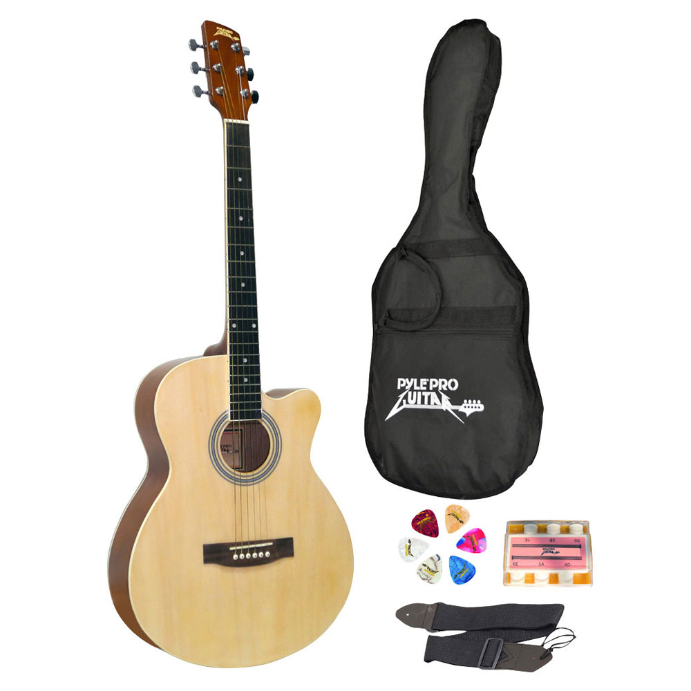 Pyle PGAKT39 - Beginners 6-String Acoustic Guitar - Full Size Starter Guitar with Accessory Kit
