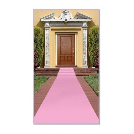 Pack of 6 Princess Themed Pink Carpet Runner Party Decorations 15' - Princess Theme Decorations