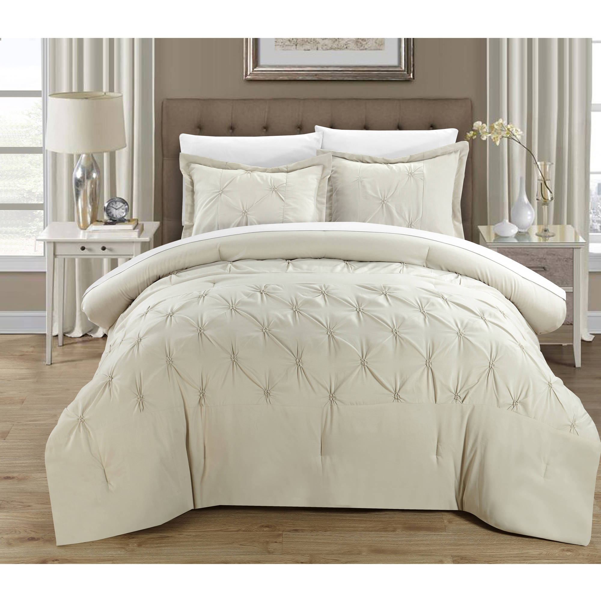 Chic Home 7-Piece Nikola Pinch Pleat Pintuck Duvet Cover