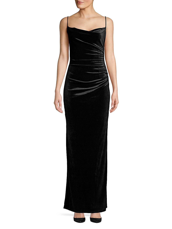 Long Velvet Column Dress