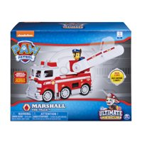 PAW Patrol Ultimate Rescue - Marshall's Ultimate Rescue Fire Truck with Moving Ladder and Flip-open Front Cab, for Ages 3 and Up