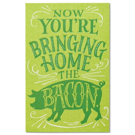 American Greetings Bringing Home the Bacon Funny New Job Congratulations Card ()