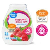 (3 Pack) Great Value Raspberry Black Tea Drink Enhancer, 1.62 fl oz