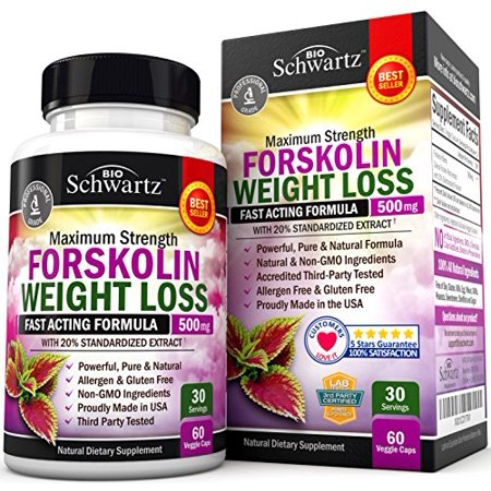 Forskolin Extract for Weight Loss. Pure Forskolin Diet Pills & Belly Buster Supplement. Premium Appetite Suppressant, Metabolism Booster, Carb Blocker & Fat Burner for Women and Men Coleus