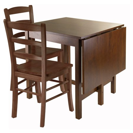 Lynden 3-Pc Dining Table with 2 Ladder Back Chairs