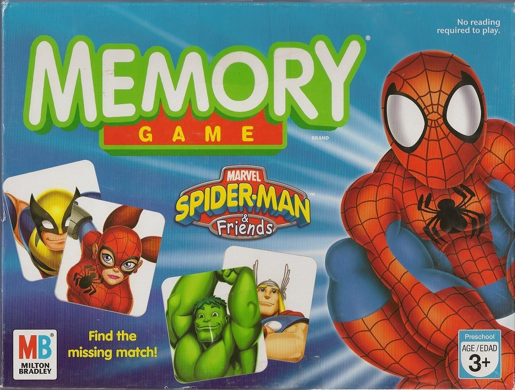 MEMORY GAME: Spiderman & Friends Edition, ITEM WILL SHIP WITHIN 12 HRS OF RECEIVING ORDER By Milton Bradley... by