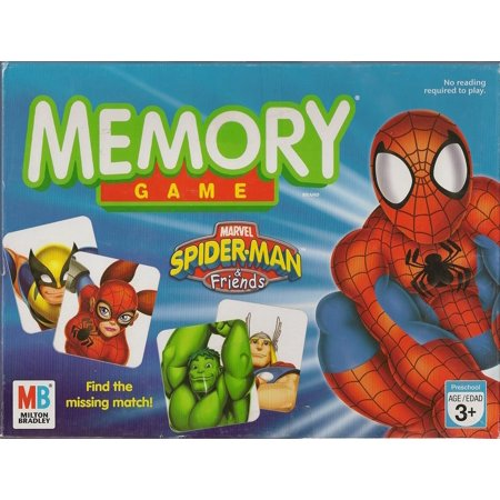 MEMORY GAME: Spiderman & Friends Edition, ITEM WILL SHIP WITHIN 12 HRS OF RECEIVING ORDER By Milton Bradley Games