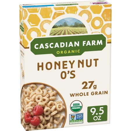 Cascadian Farm, Organic Breakfast Cereal, Honey Nut O's, 9.5 oz
