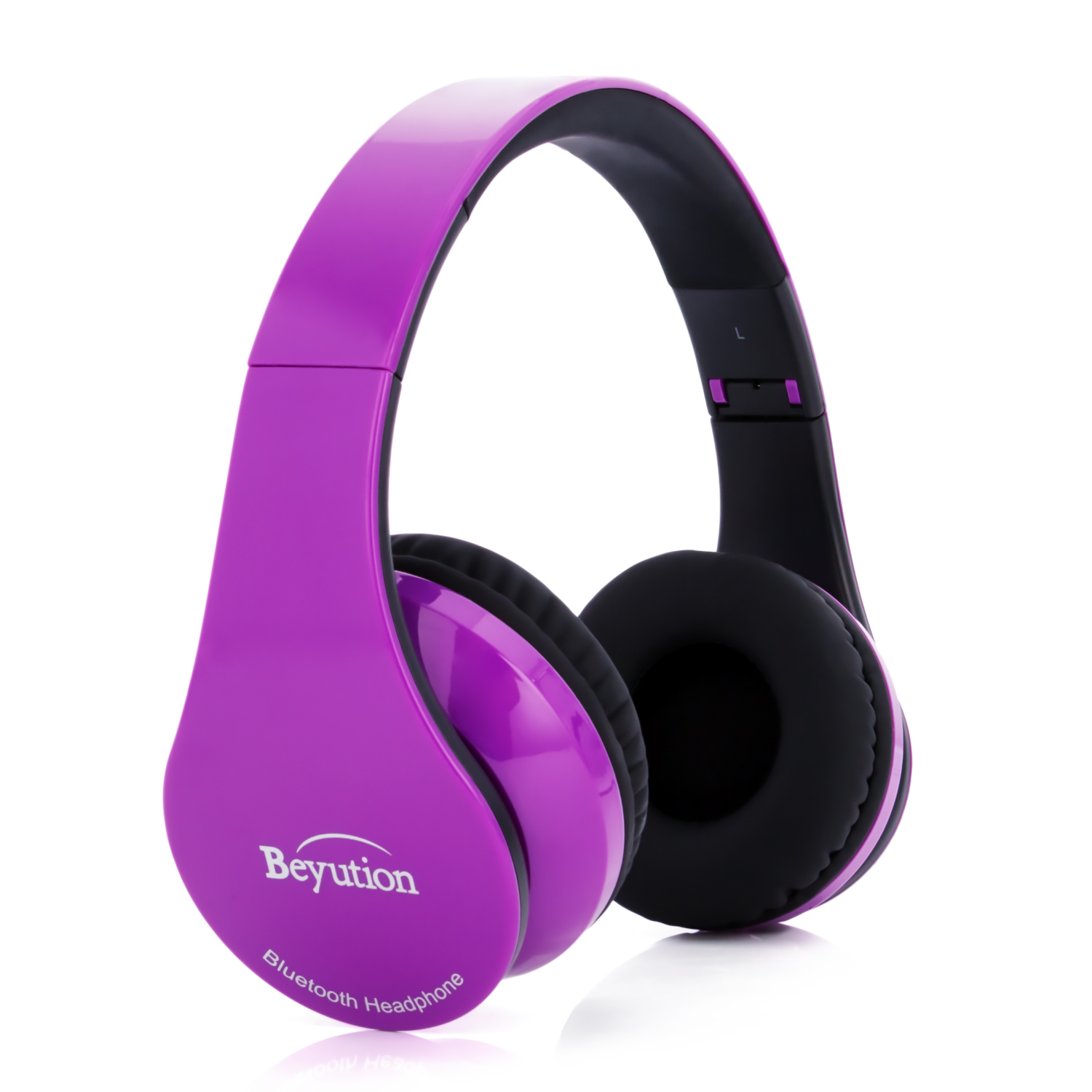 Beyution V4.1 Bluetooth Headphones Wireless Foldable Hi-fi Stereo Headphone with Micphone for Smart Phones & Tablets - Purepurple