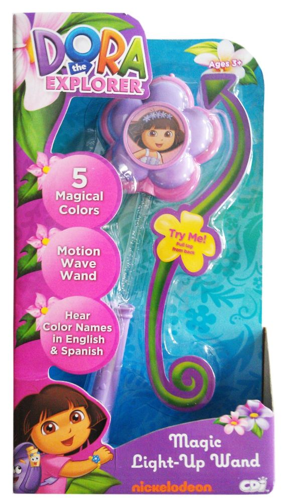 Nickelodeon Dora The Explorer Magic Light Up Wand Color Change by