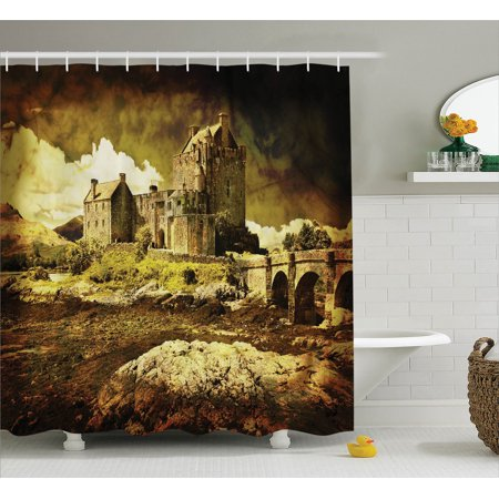 Meval Decor Old Scottish Castle In Vintage Style European Middle Age Culture Heritage Town Photo