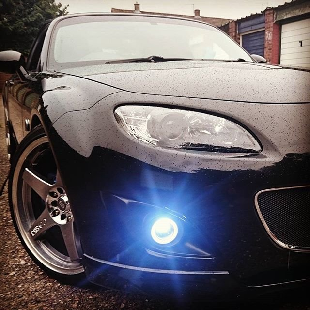 New 2009-2012 Mazda MX-5 Miata NC Halo Fog Lamps Driving Lights