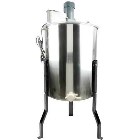 VIVO Electric Four 4 Frame Stainless Steel Honey Extractor (BEE-V004E) ()