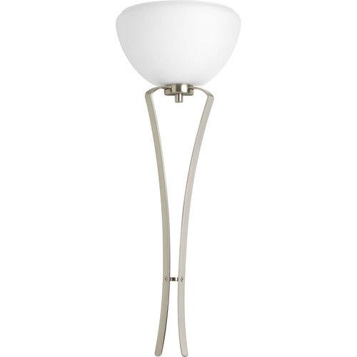 Progress Rave 1-Light Ada Wall Sconce Etched Glass in Brushed Nickel P7053-09WB