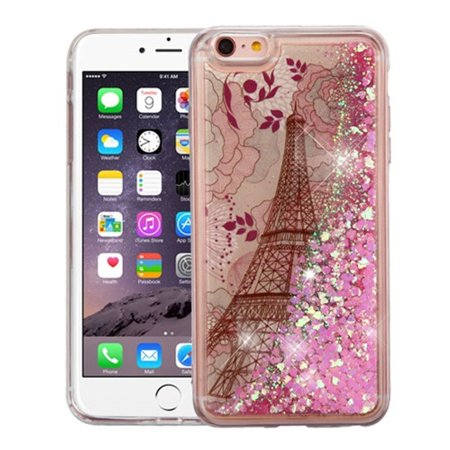 f51d3f78d3733b iPhone 6s plus case by Insten Luxury Quicksand Glitter Liquid Floating Sparkle  Bling Fashion Phone Case Cover for Apple iPhone 6s plus / 6 plus - Walmart.  ...