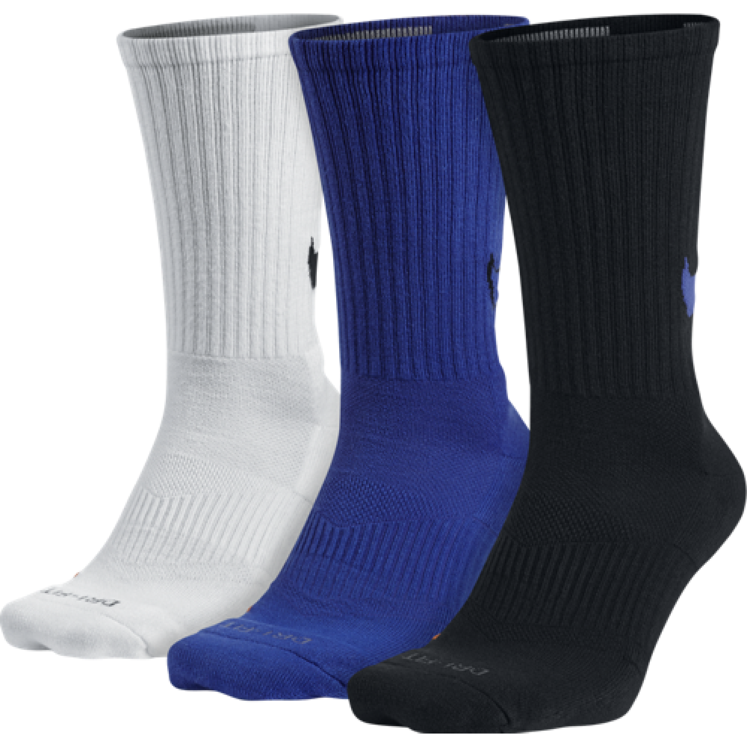 Nike Dri-FIT Cotton Swoosh Crew 3-Pair Pack Crew Cut Socks Shoes