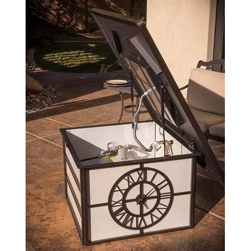 CC Products Fire Time Steel Natural Gas Firepit Table by