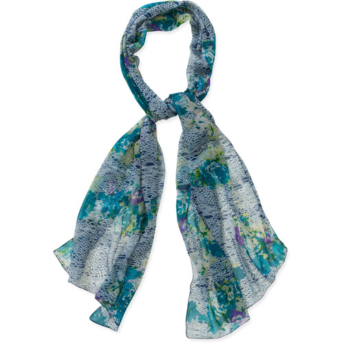 Floral and Python Print Scarf