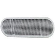 Master Flow 4 in. H x 4 in. W x 12 in. L White Resin Undereave Vent - Case Of: 1