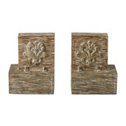 Sterling Industries 93-19297/S2 Set Of 2 Reclaimed Fleur De Lis Artifact Bookends