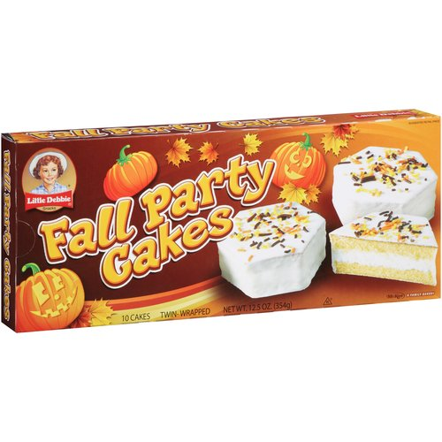 Little Debbie Snacks Vanilla Fall Party Cakes, 10 count
