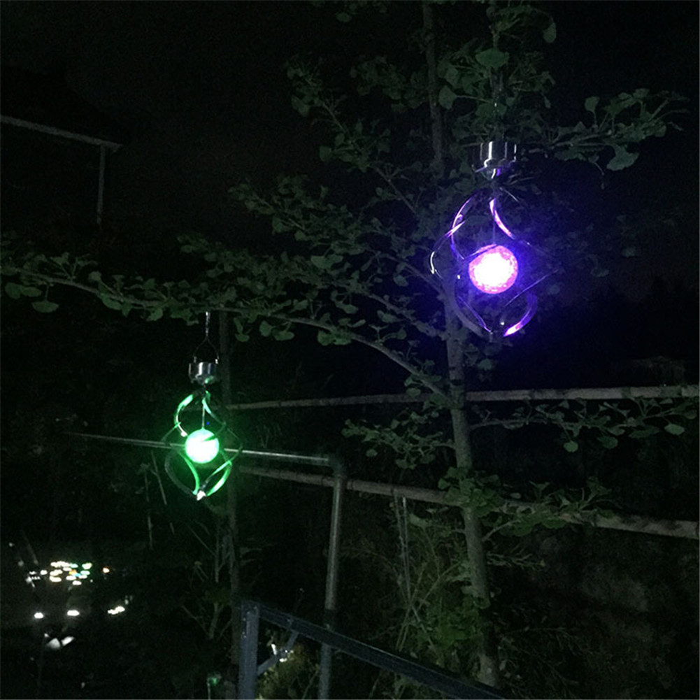 35 15cm // 13.78 5.91inch Solar Wind Chime Lights Garden Courtyard Colorful Dimmable Lighting